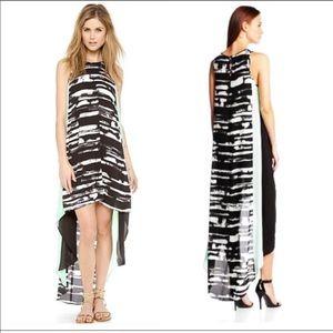 BCBG Max Azria Black White Hi Low Dress